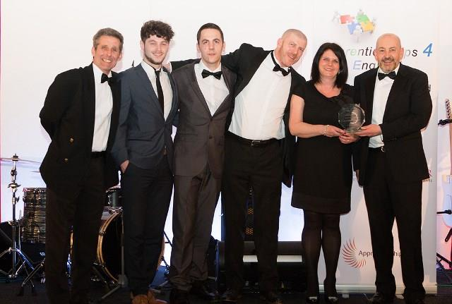 Trust apprentices and staff at the Apprenticeships 4 England awards last week.