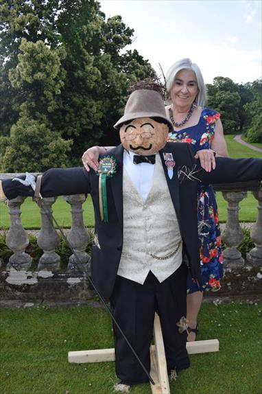 Chrissie 3rd place scarecrow Poirot