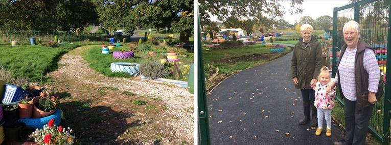 Before and after improvement works at Colanley Gardens
