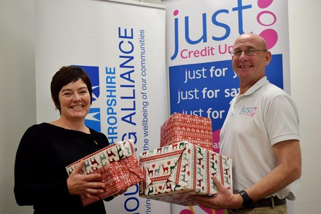 Deb Morrison and Steve Barras from Just Credit Union