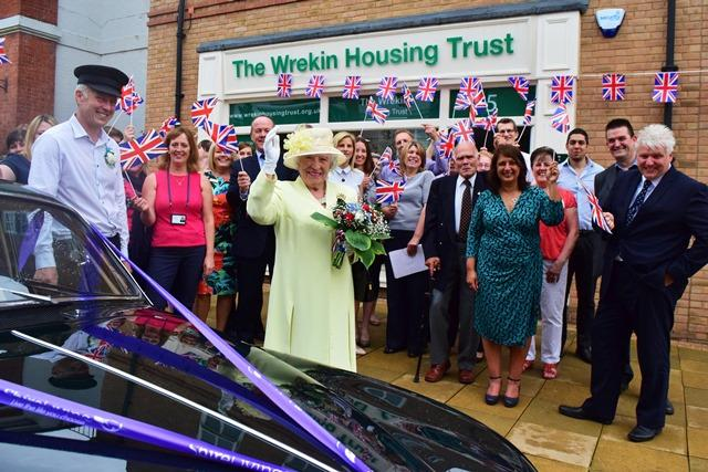 Queen at Madeley shop