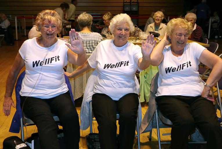 Wellfit class at Celebrating Age Festival