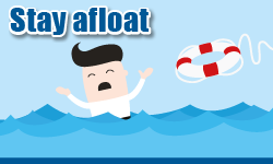 UC stay afloat button